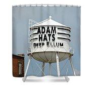 Adam Hats In Deep Ellum Shower Curtain
