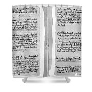 Adams Law Notes, 1770 Shower Curtain
