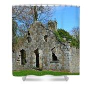 Adare Chapel Ruins Shower Curtain
