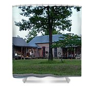 Log Cabins And House Shower Curtain