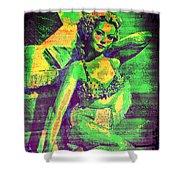 Adele Mara - 1940s Pin Up Shower Curtain