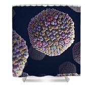 Adenovirus Shower Curtain