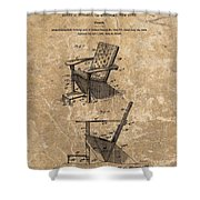 Adirondack Chair Patent Shower Curtain