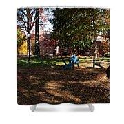 Adirondack Chairs 2 - Davidson College Shower Curtain