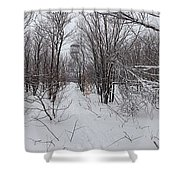 Adirondack Fire Tower 1 Of 6 Shower Curtain