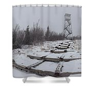 Adirondack Fire Tower 2 Shower Curtain