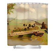 Adirondacks Bridge For Fishing Shower Curtain