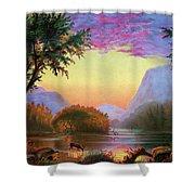 Adirondacks Sunset Shower Curtain