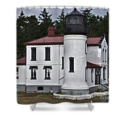 Admiralty Head Lighthouse 2 Shower Curtain
