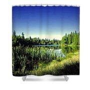 Admiring The Beauty At Woodbridge Lake Shower Curtain