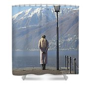 Admiring The Mountains Shower Curtain