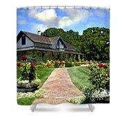 Adobe Alamo Pintado Rideau Vineyards Shower Curtain