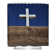 Adobe And Cross Shower Curtain