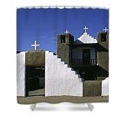 Adobe Church Taos Shower Curtain