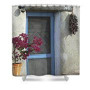 Adobe Home In Ft. Lowell Shower Curtain