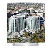 Adobe Systems Building San Jose California Shower Curtain