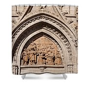 Adoration Of The Three Wise Men Relief Shower Curtain
