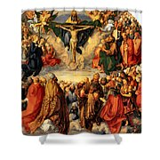 Adoration Of The Trinity Shower Curtain