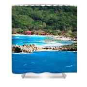 Adrenaline Beach - Cezanne II Shower Curtain