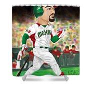 Adrian Gonzalez Team Mexico Shower Curtain