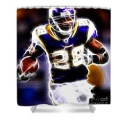 Adrian Peterson 01 - Football - Fantasy Shower Curtain