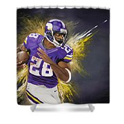Adrian Peterson Shower Curtain by Don Medina