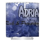 Adrian - Rich And Prosperous Shower Curtain by Christopher Gaston