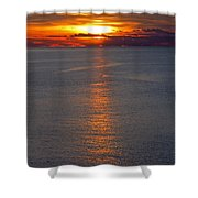 Adriatic Sunset Shower Curtain