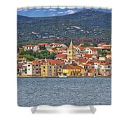 Adriatic Town Of Pirovac Waterfront Shower Curtain