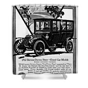 Ads Automobile, 1912 Shower Curtain