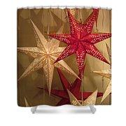 Advent Stars Shower Curtain