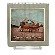 Adventure Air Shower Curtain by Cindy Thornton