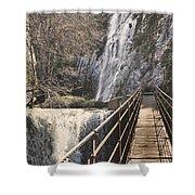 Adventure Retro Bridge Shower Curtain