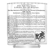 Advertisement: Coca Wine Shower Curtain