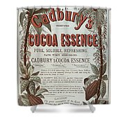 Advertisement For Cadburs Cocoa Essence From The Graphic Shower Curtain