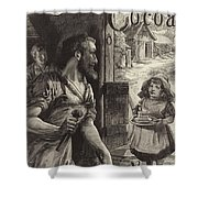 Advertisement For Cadburys Drinking Cocoa Shower Curtain by English School