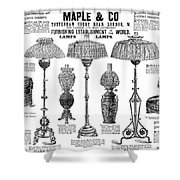 Advertisement Lamps, 1890 Shower Curtain