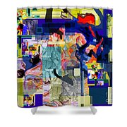 Tzaddik Emes 3 Shower Curtain
