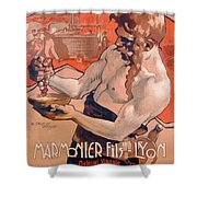 Advertisemet For Marmonier Fils Lyon Shower Curtain