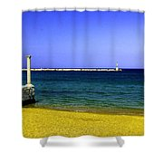 Aegean Lookout Shower Curtain