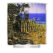 Aegean View Shower Curtain