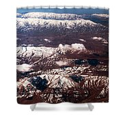 Aeial View Of The Snowy Mountains Shower Curtain
