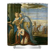 Aeneas Taking Leave Of Dido Shower Curtain