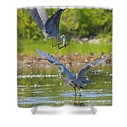 Aerial Attack Shower Curtain