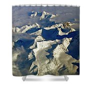Aerial Ice Fields Shower Curtain