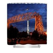 Aerial Lift Bridge Shower Curtain