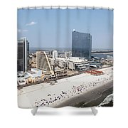 Aerial Of Downtown Atlantic City Shower Curtain