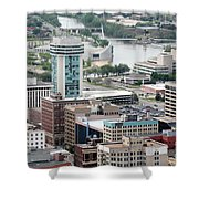 Aerial Of Downtown Wichita Shower Curtain