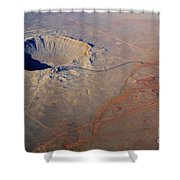 Aerial Of Meteor Crater Shower Curtain