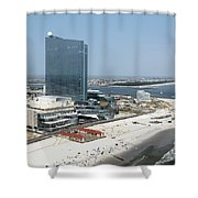 Aerial Of Revel On The Oceanfront Shower Curtain